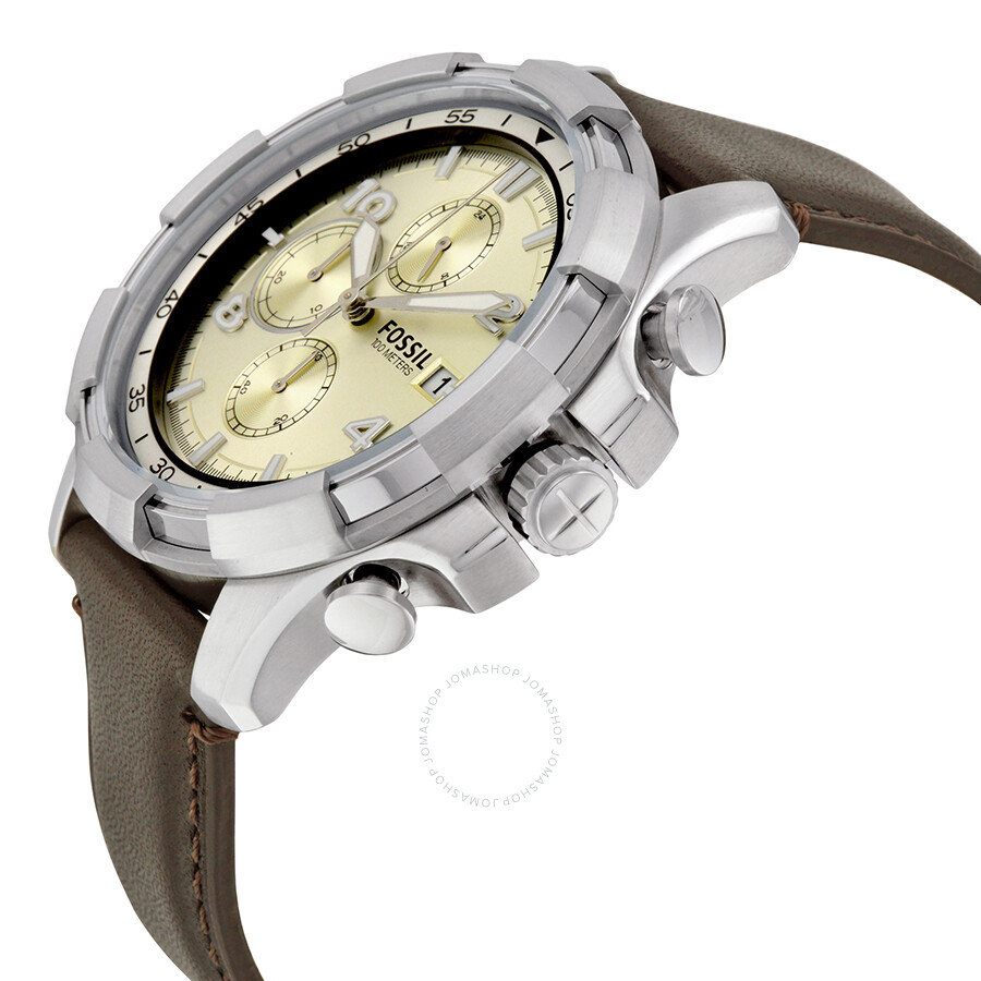 fossil dean chronograph beige dial men 39 s watch fs5114. Black Bedroom Furniture Sets. Home Design Ideas