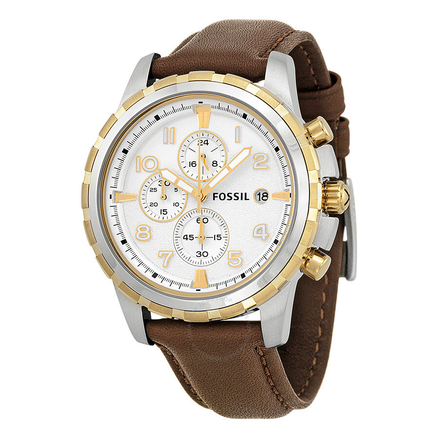 Fossil dean chronograph silver dial stainless steel men 39 s watch fs4788 dean fossil watches for Fossil watches