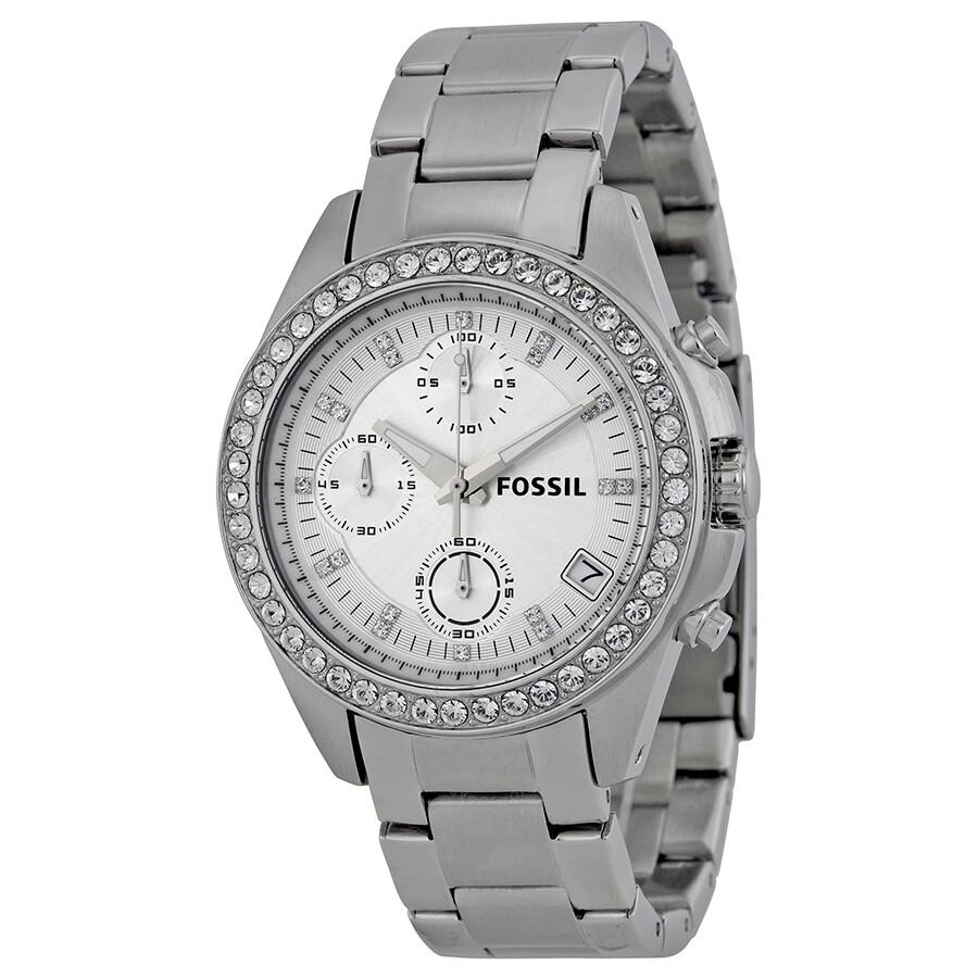 Fossil Decker Chronograph Silver Dial Ladies Watch ES2681