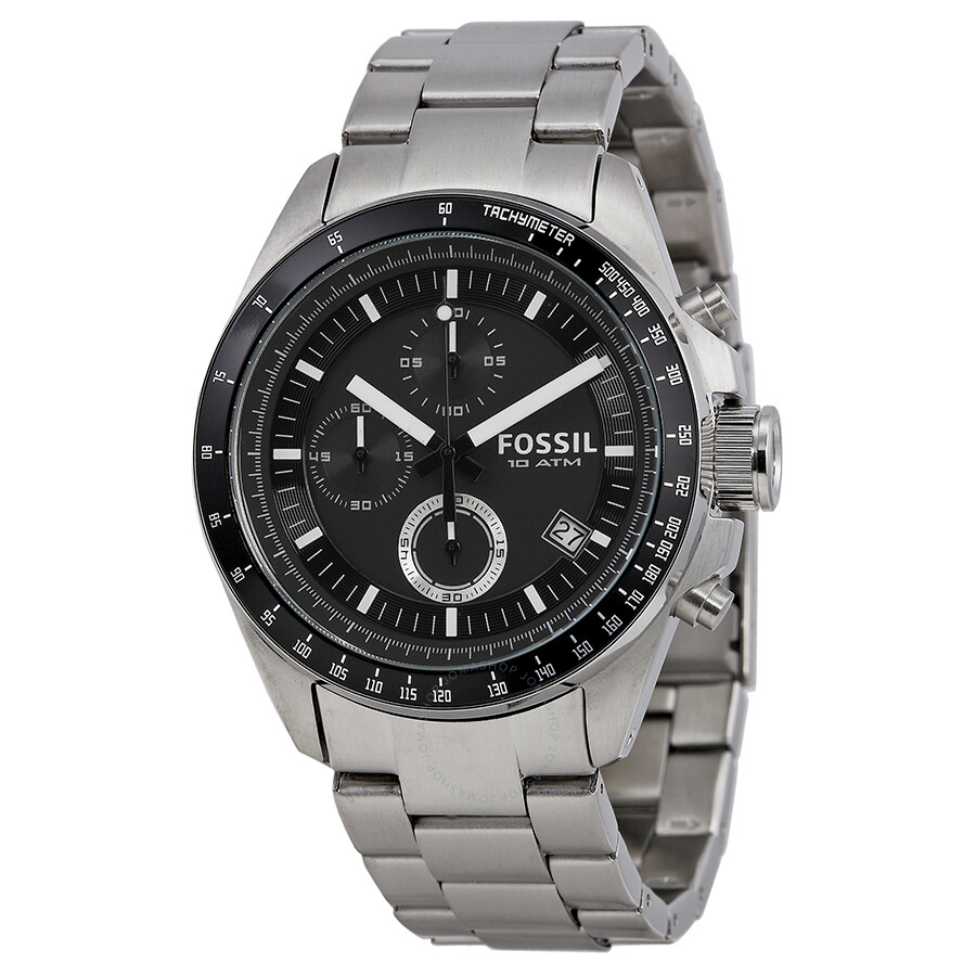 206f548d39c Fossil Decker Chronograph Black Dial Stainless Steel Men s Watch CH2600 ...