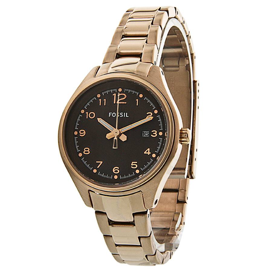 70dc98a20 Fossil Flight Mini Rose Gold-plated Stainless Steel Ladies Watch AM4366