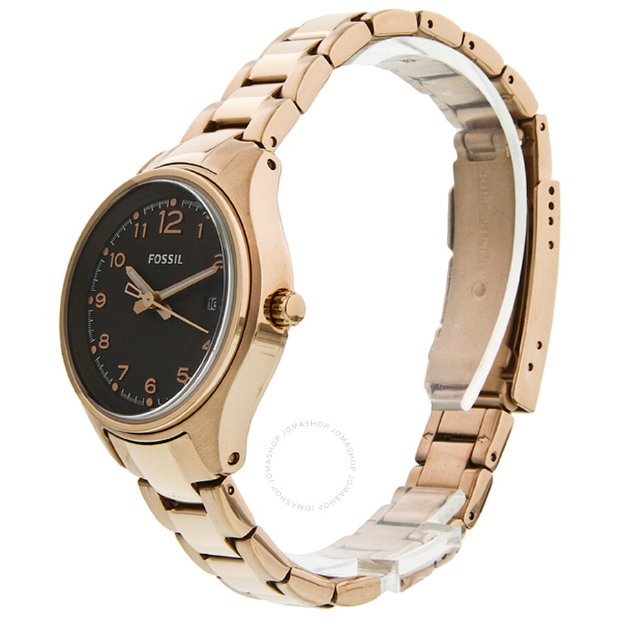 03cb0920f Fossil Flight Mini Rose Gold-plated Stainless Steel Ladies Watch AM4366