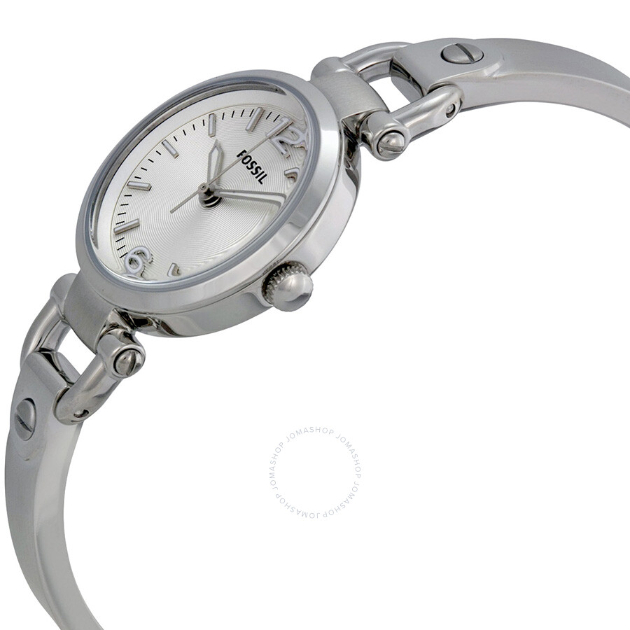 3d55a9f67 ... Fossil Georgia Mini Silver Dial Stainless Steel Ladies Watch ES3269 ...