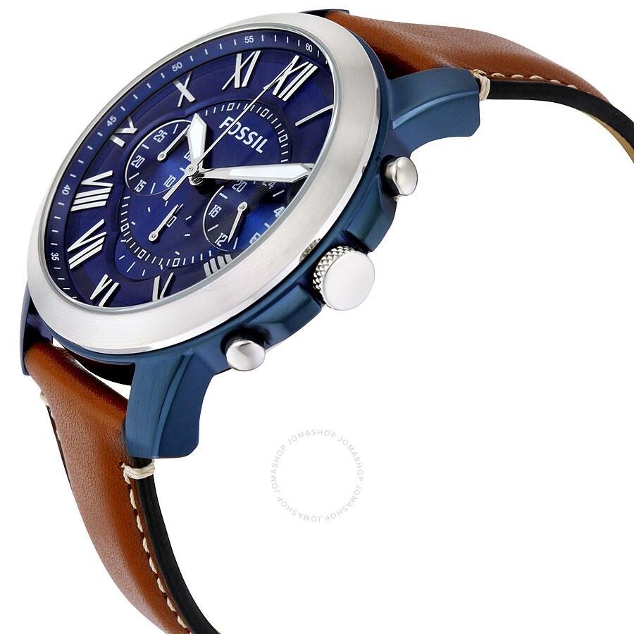 c6942c76aea2 Fossil Grant Chronograph Blue Dial Men s Watch FS5151 - Grant ...