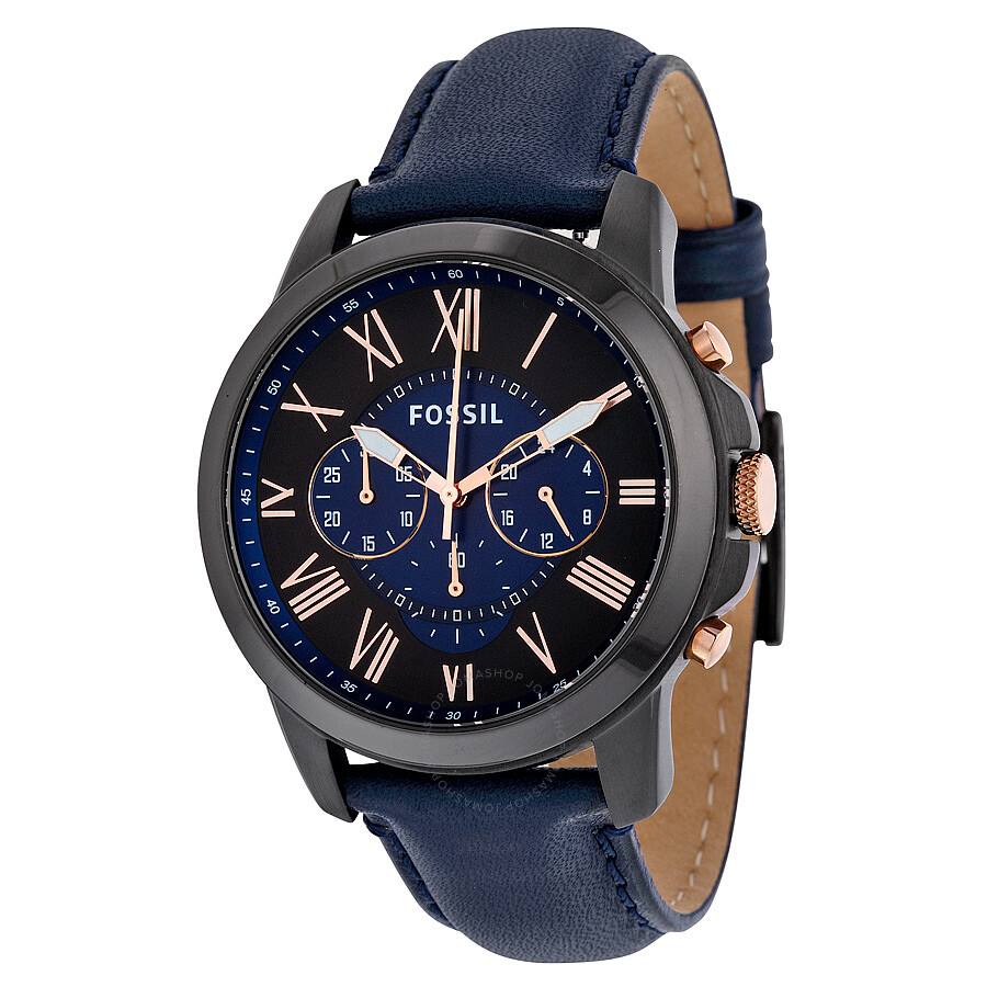 Fossil Grant Chronograph Black and Blue Dial Men s Watch FS5061 ... a6d91a0105