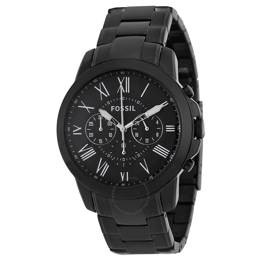 Fossil Grant Chronograph Black Dial Black-plated Men s Watch FS4832 ... 68dd43e26f