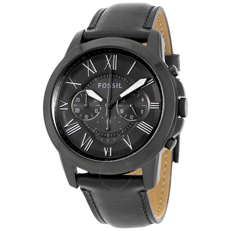 aecf6dbff1739 Fossil Grant Black Dial Men s Chronograph Watch FS5132 - Grant ...