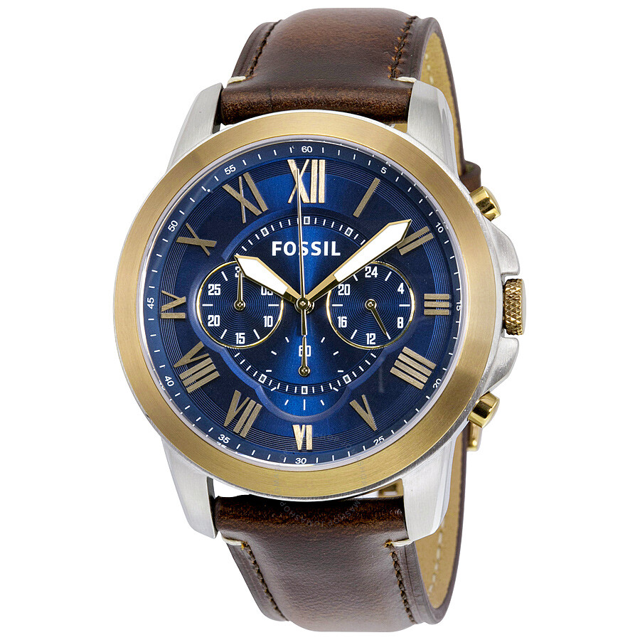 Fossil grant chronograph blue dial men 39 s watch fs5150 grant fossil watches jomashop for Fossil watches