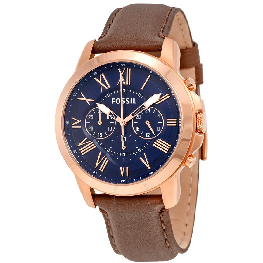 23a1dbf97559 Fossil Grant Chronograph Blue Dial Men s Quartz Watch