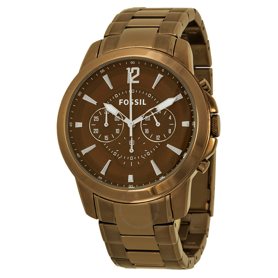 fossil grant chronograph brown ion plated men 39 s watch. Black Bedroom Furniture Sets. Home Design Ideas