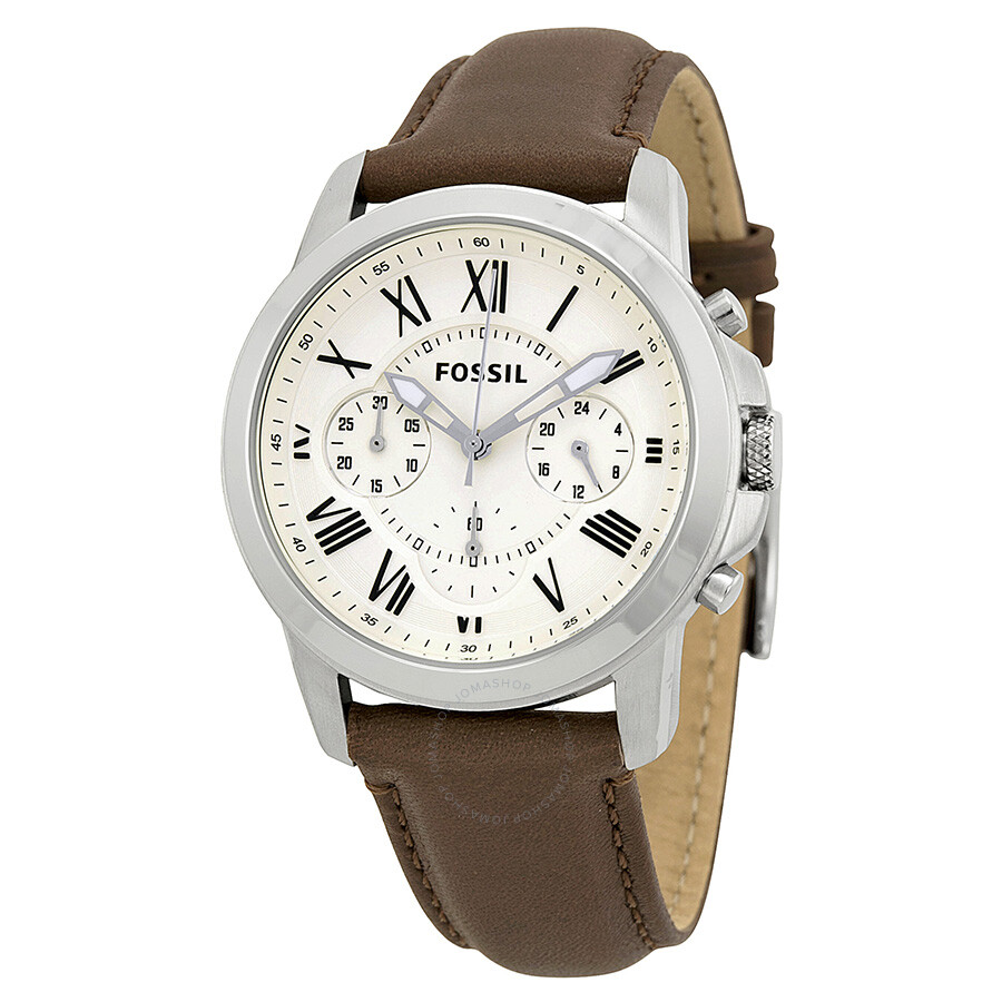 fossil grant chronograph dial brown leather men 39 s watch. Black Bedroom Furniture Sets. Home Design Ideas