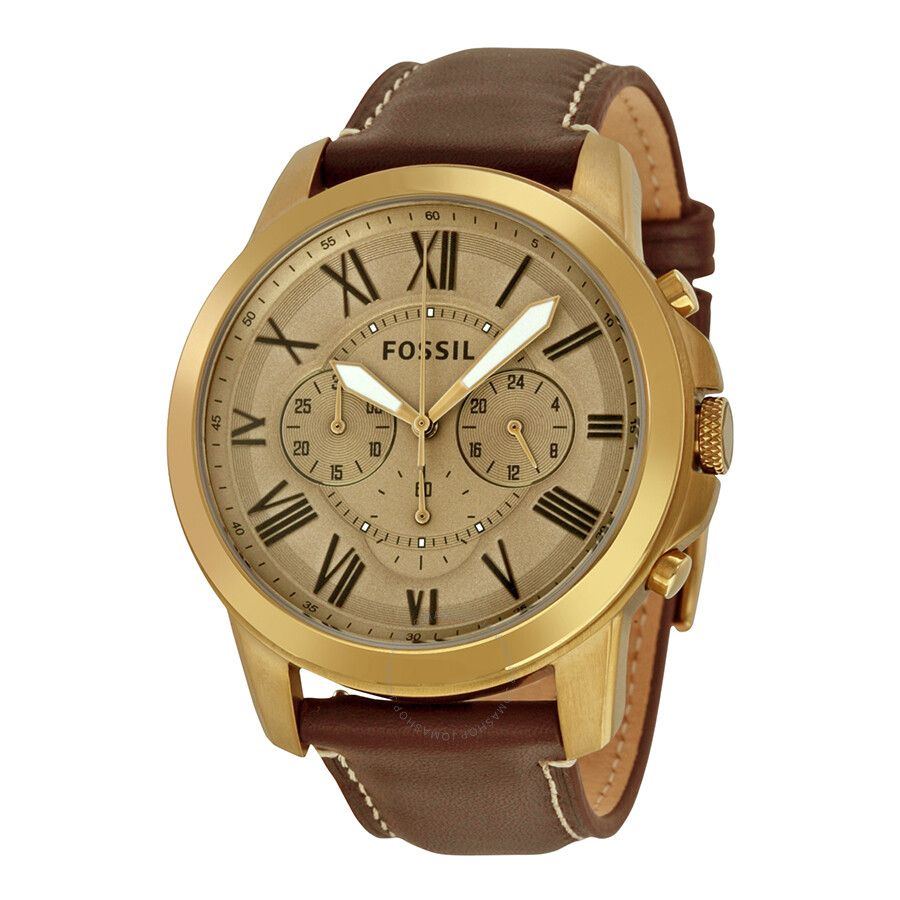 Fossil grant gold dial men 39 s chronograph watch fs5107 grant fossil watches jomashop for Fossil watches