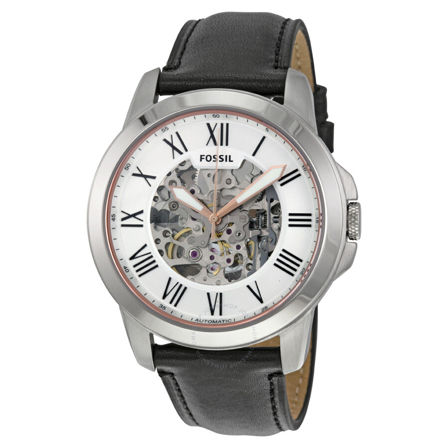 f5cfc64e5 Fossil Grant Silver Skeleton Dial Automatic Men's Watch ME3101 ...