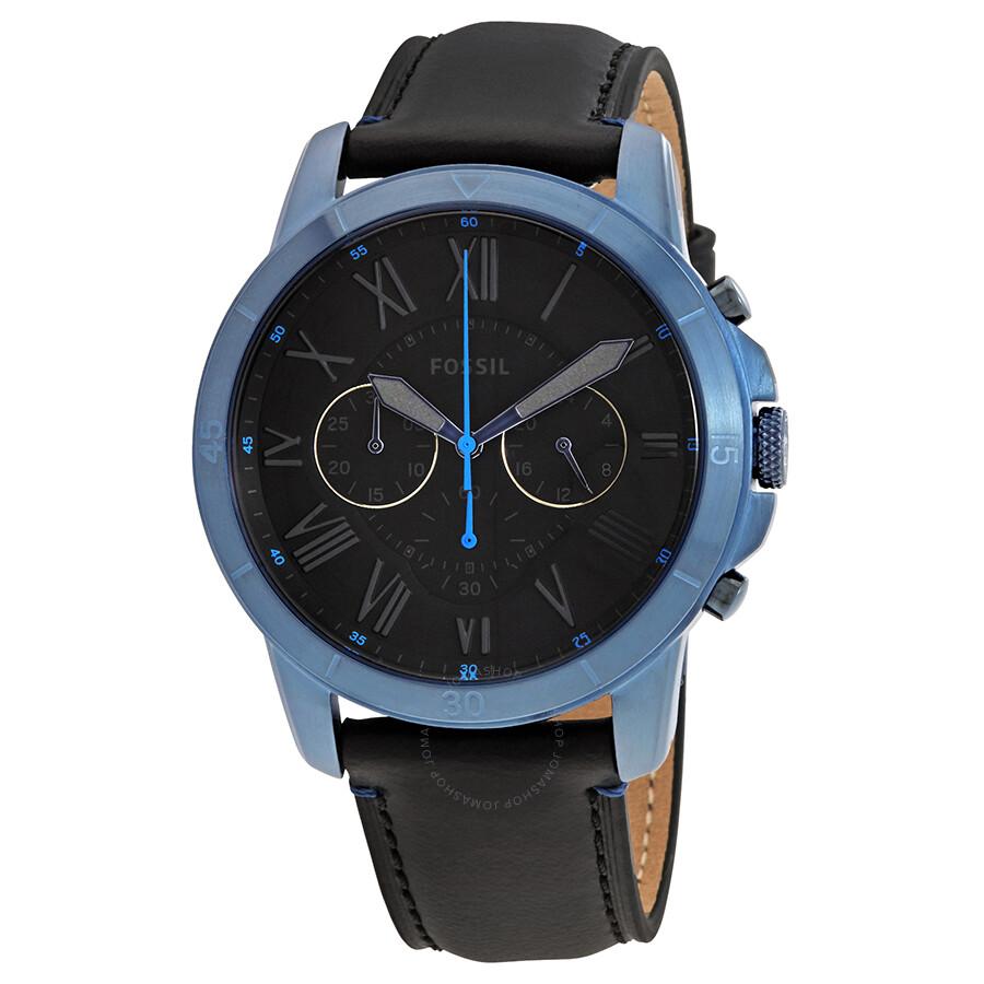 427c33cff0182 Fossil Grant Sport Chronograph Black Dial Men s Watch FS5342 ...