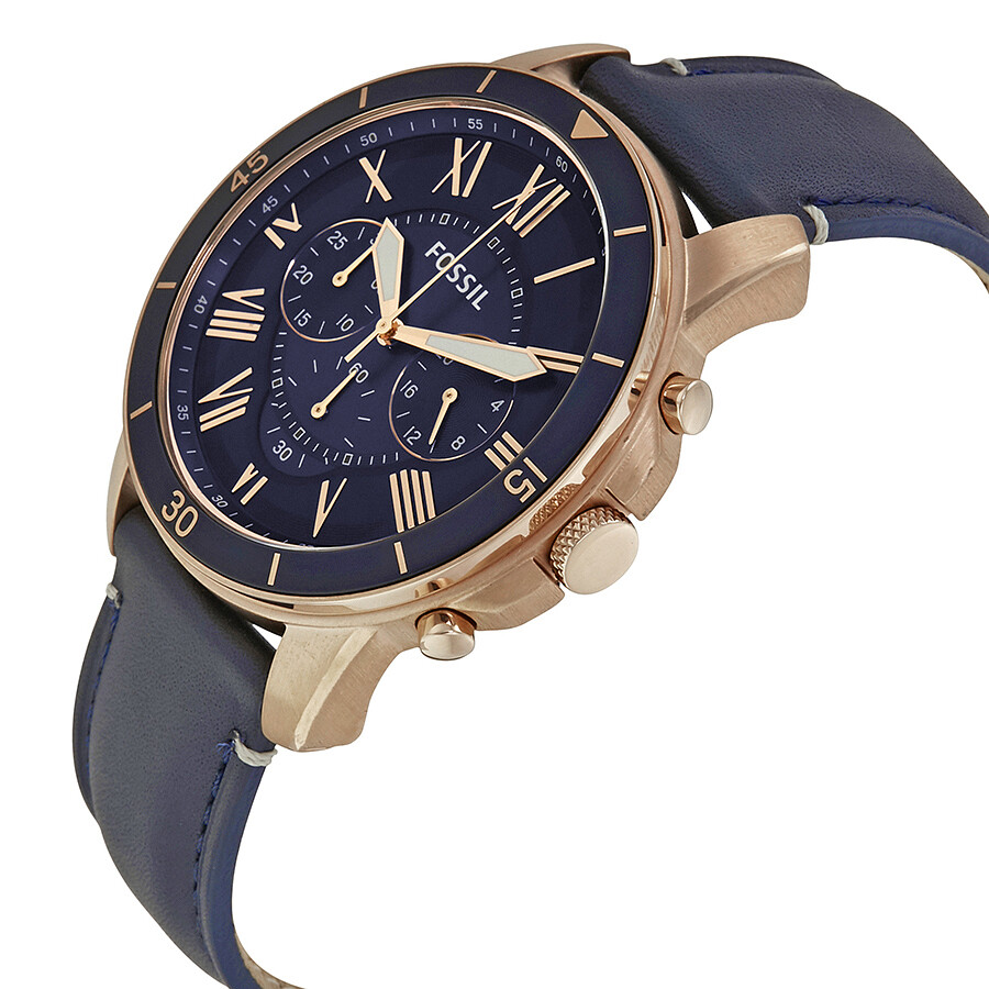 fossil grant sport blue dial men 39 s chronograph watch. Black Bedroom Furniture Sets. Home Design Ideas