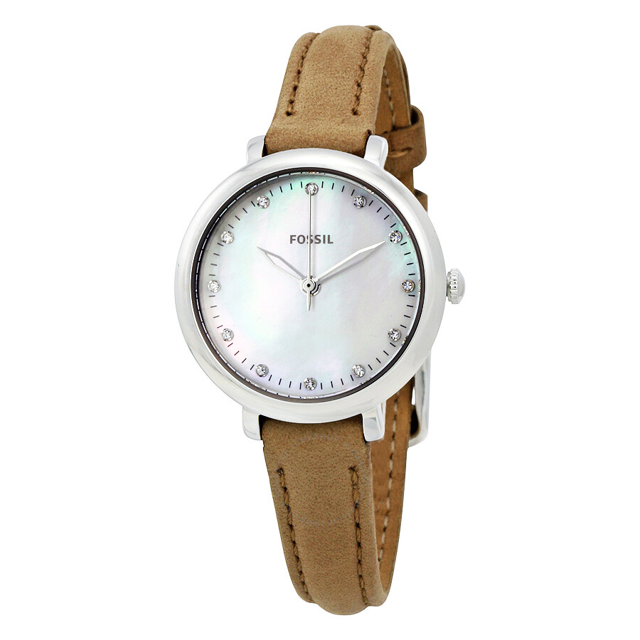 Fossil jacqueline mini mother of pearl dial ladies watch es4084 jacqueline fossil watches for Mother of pearl dial watch