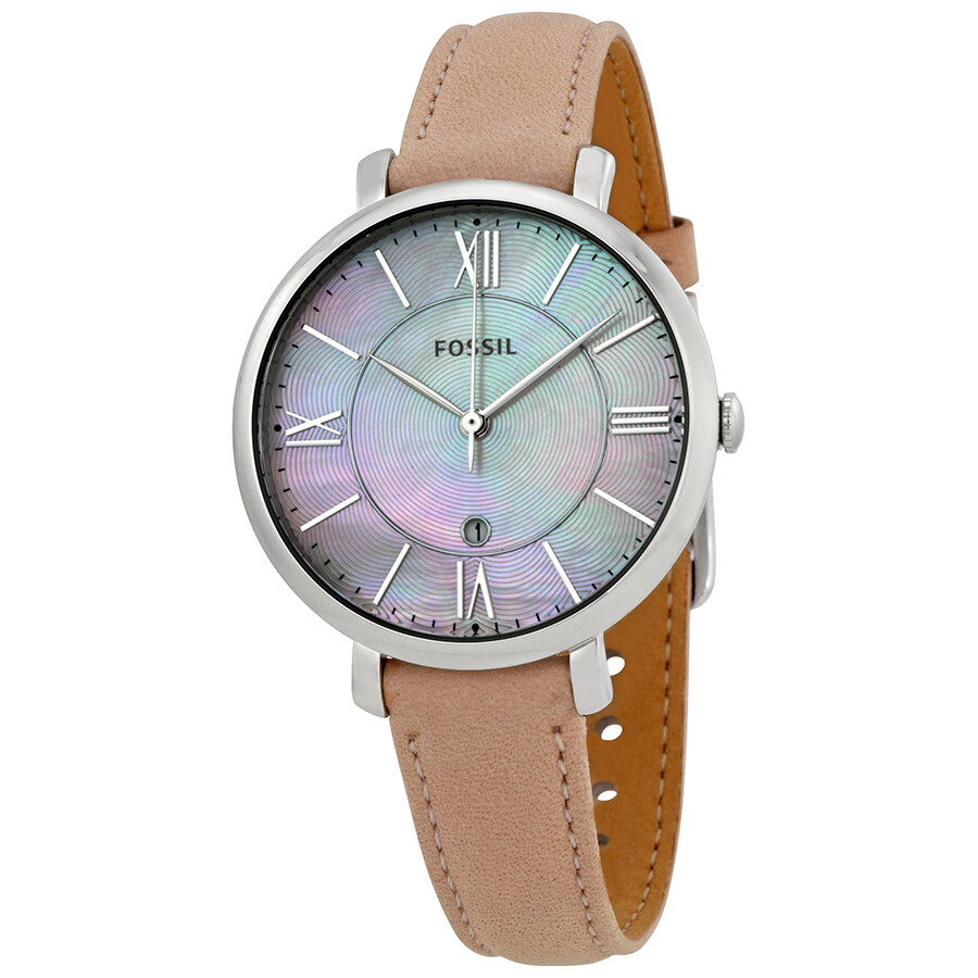 Fossil jacqueline mother of pearl dial ladies watch es4151 jacqueline fossil watches for Pearl watches