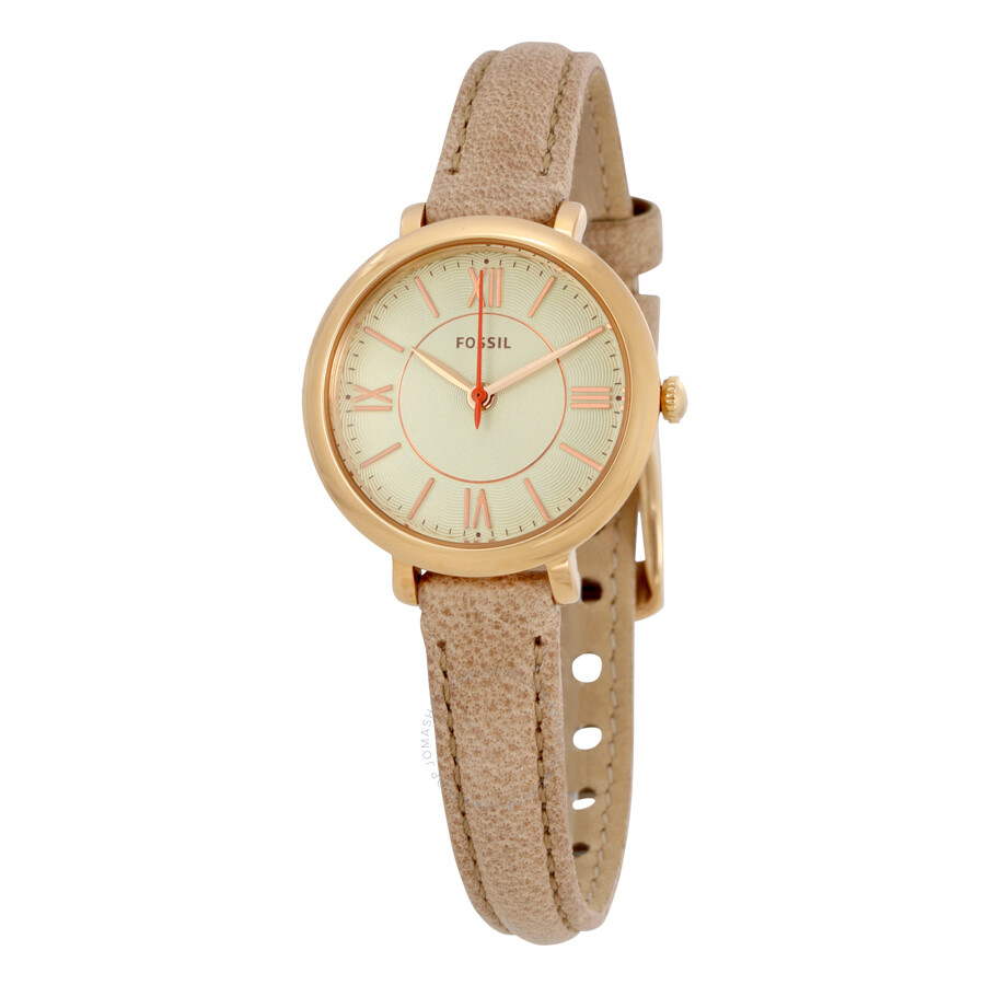 fossil jacqueline silver sand leather