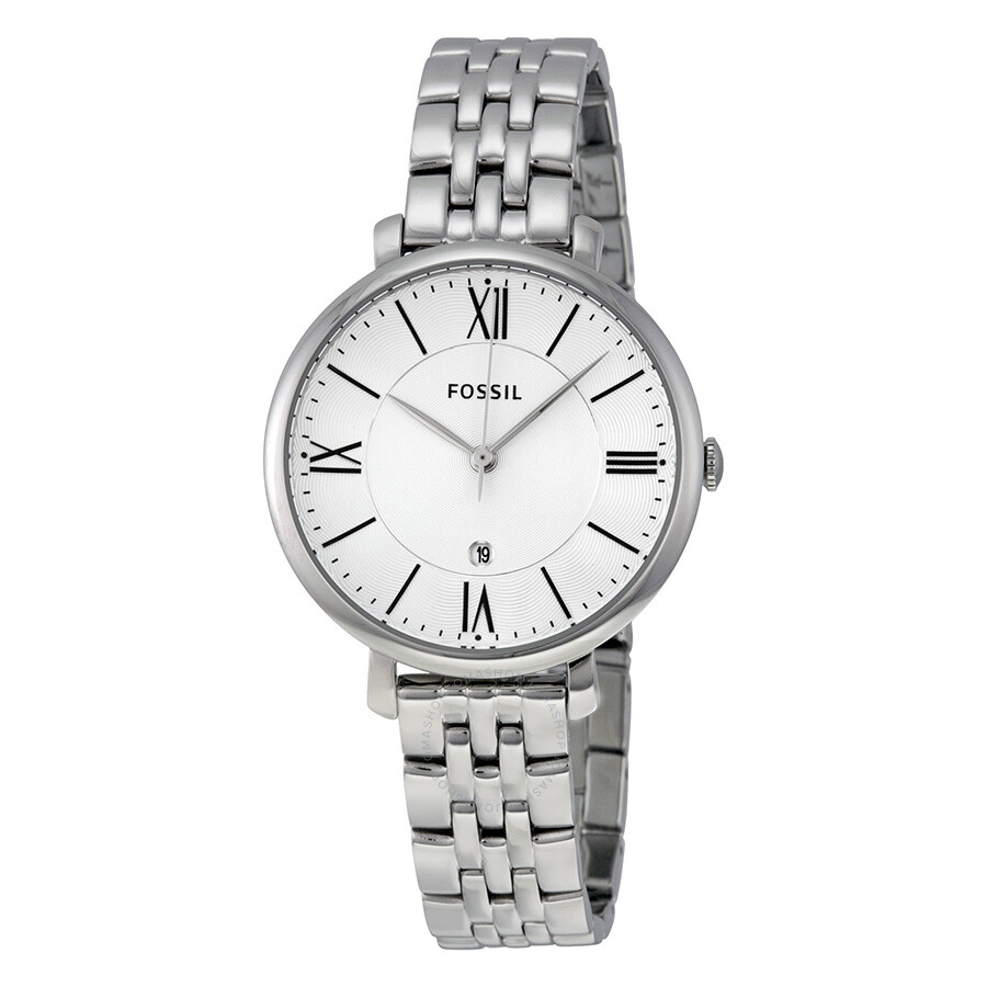a32ff4495a10 Fossil Jacqueline Silver Dial Stainless Steel Ladies Watch ES3433 ...
