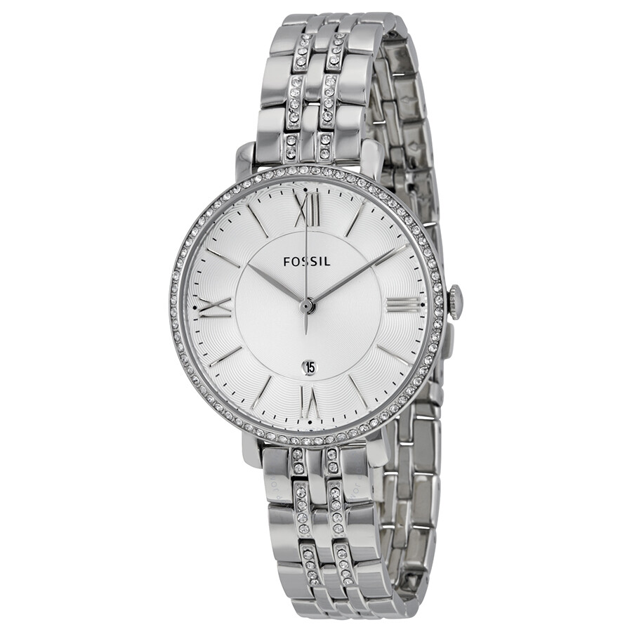 파슬 재클린 시계 Fossil Jacqueline Watch Silver Dial Stainless Steel Ladies ES3545