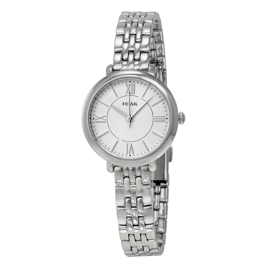 d8a60596c955 Fossil Jacqueline Silver Dial Stainless Steel Ladies Watch ES3797 ...