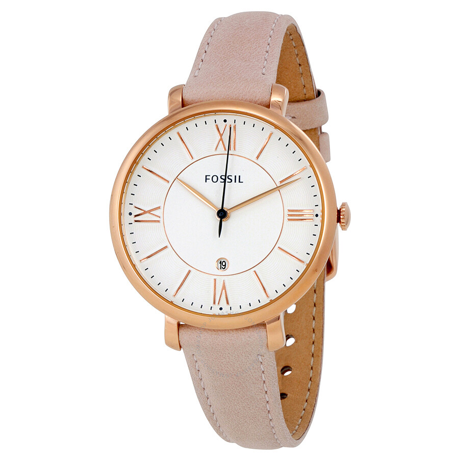 fossil jacqueline white casual es3988