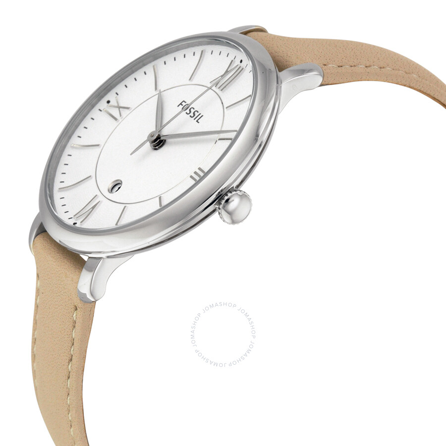 fossil jacqueline white leather es3793