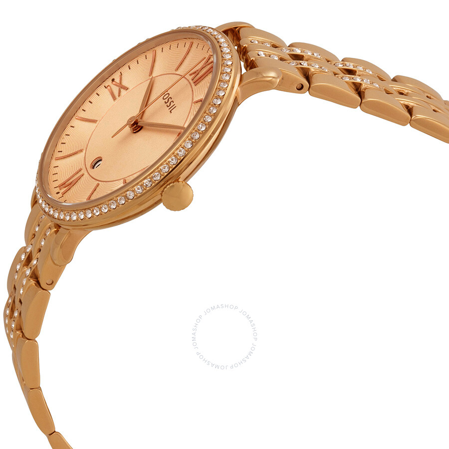 39b82c4d264 ... Fossil Jaqueline Rose Dial Rose Gold-plated Ladies Watch ES3546 ...