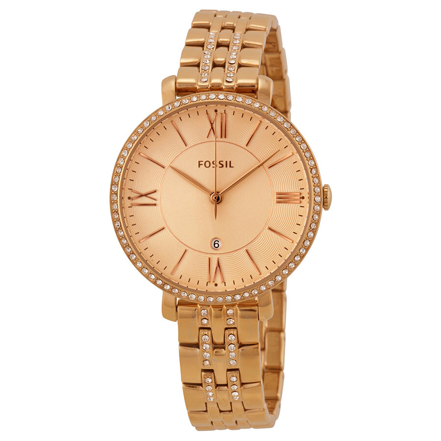 d4a2c5328 Fossil Jaqueline Rose Dial Rose Gold-plated Ladies Watch ES3546 ...