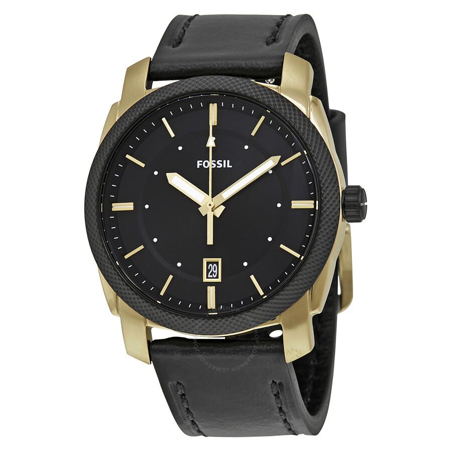 Fossil machine black dial men 39 s watch fs5263 machine fossil watches jomashop for Fossil watches