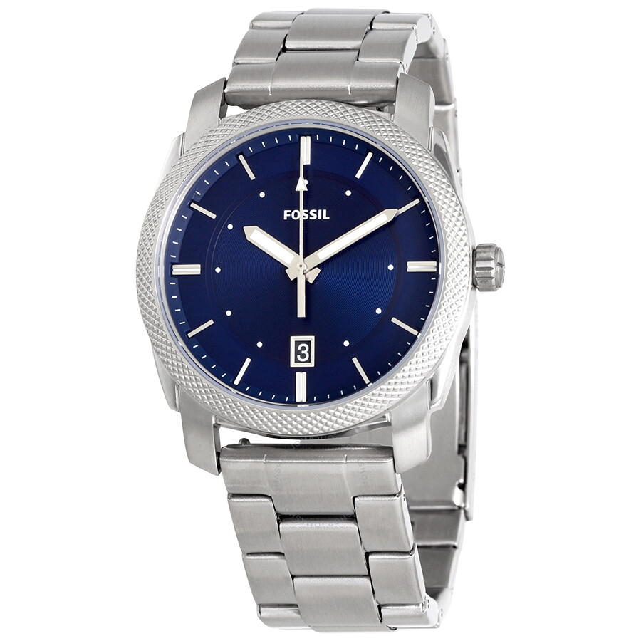 b333f1397e8a Fossil Machine Blue Dial Stainless Steel Men s Watch