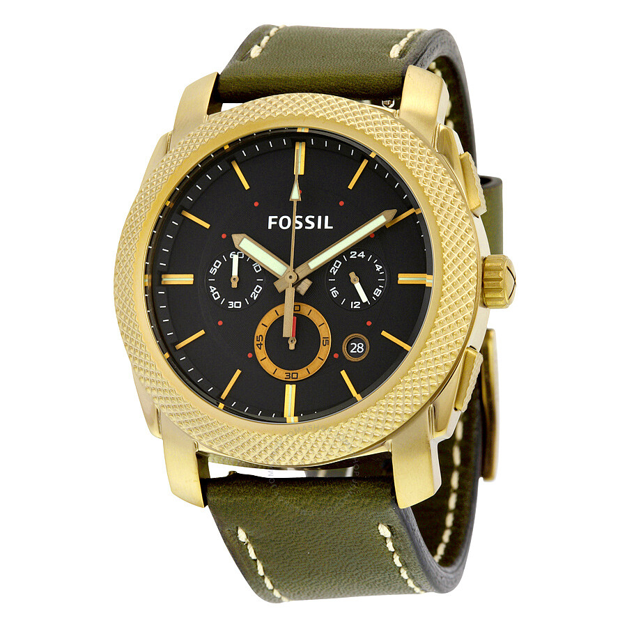 fossil machine chronograph black dial men 39 s quartz watch. Black Bedroom Furniture Sets. Home Design Ideas