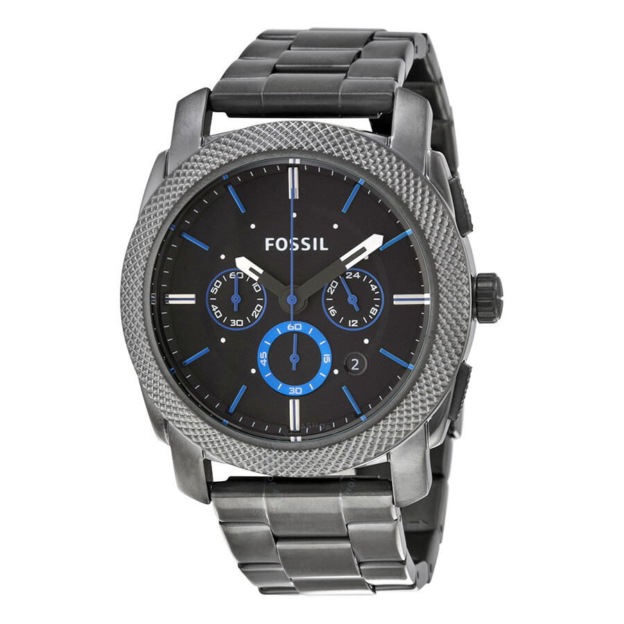 Fossil machine chronograph black dial men 39 s watch fs4931 machine fossil watches jomashop for Fossil watches