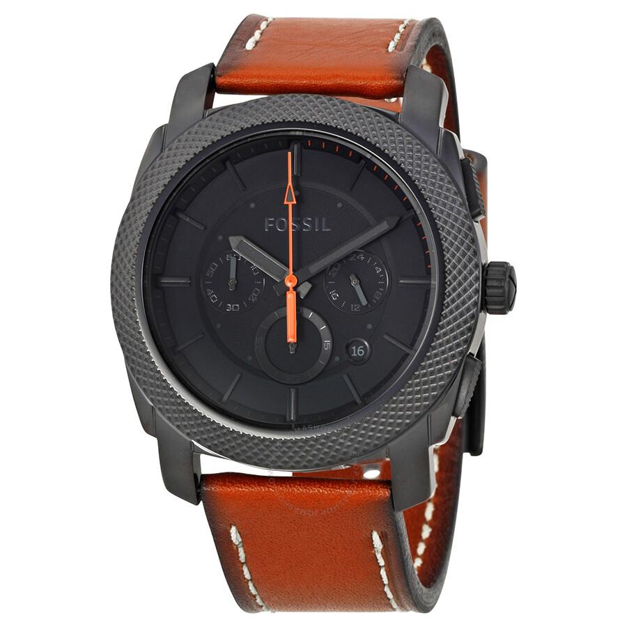 022613d29a25 Fossil Machine Chronograph Black Dial Men s Watch FS5234 - Machine ...