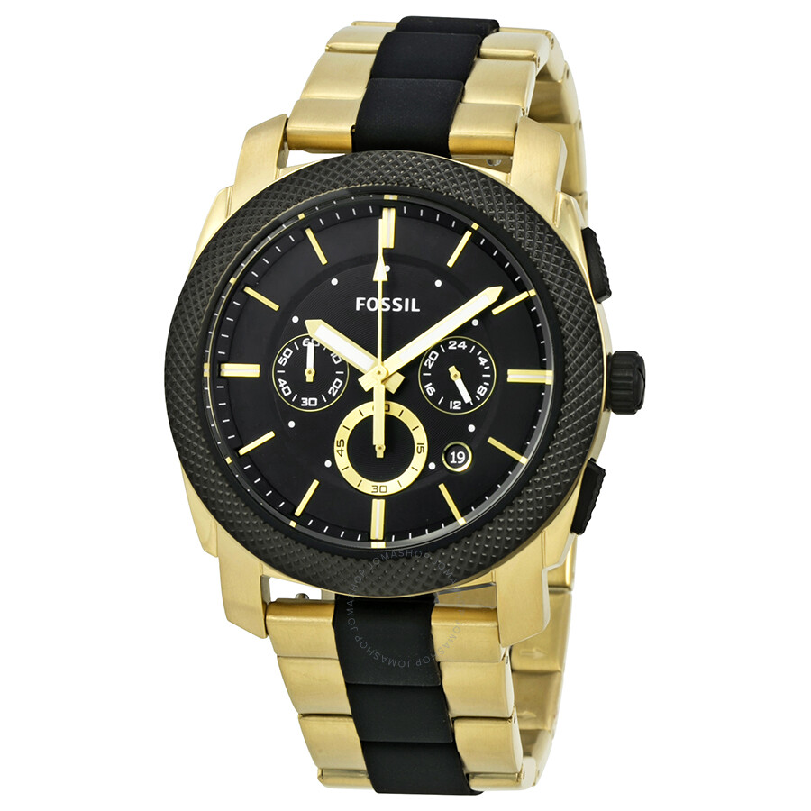 fossil machine chronograph black dial men 39 s watch fs5261. Black Bedroom Furniture Sets. Home Design Ideas
