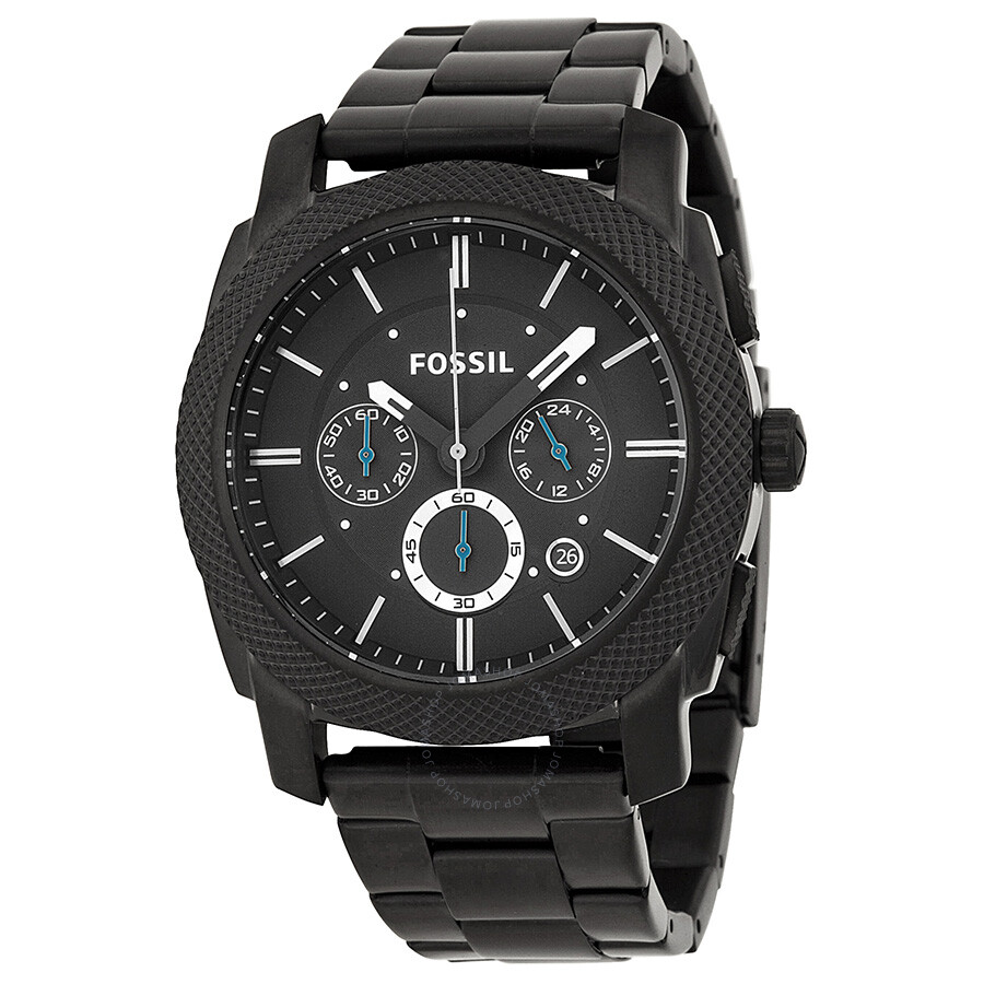 f8ea019822a58 Fossil Machine Chronograph Black Ion-plated Men s Watch