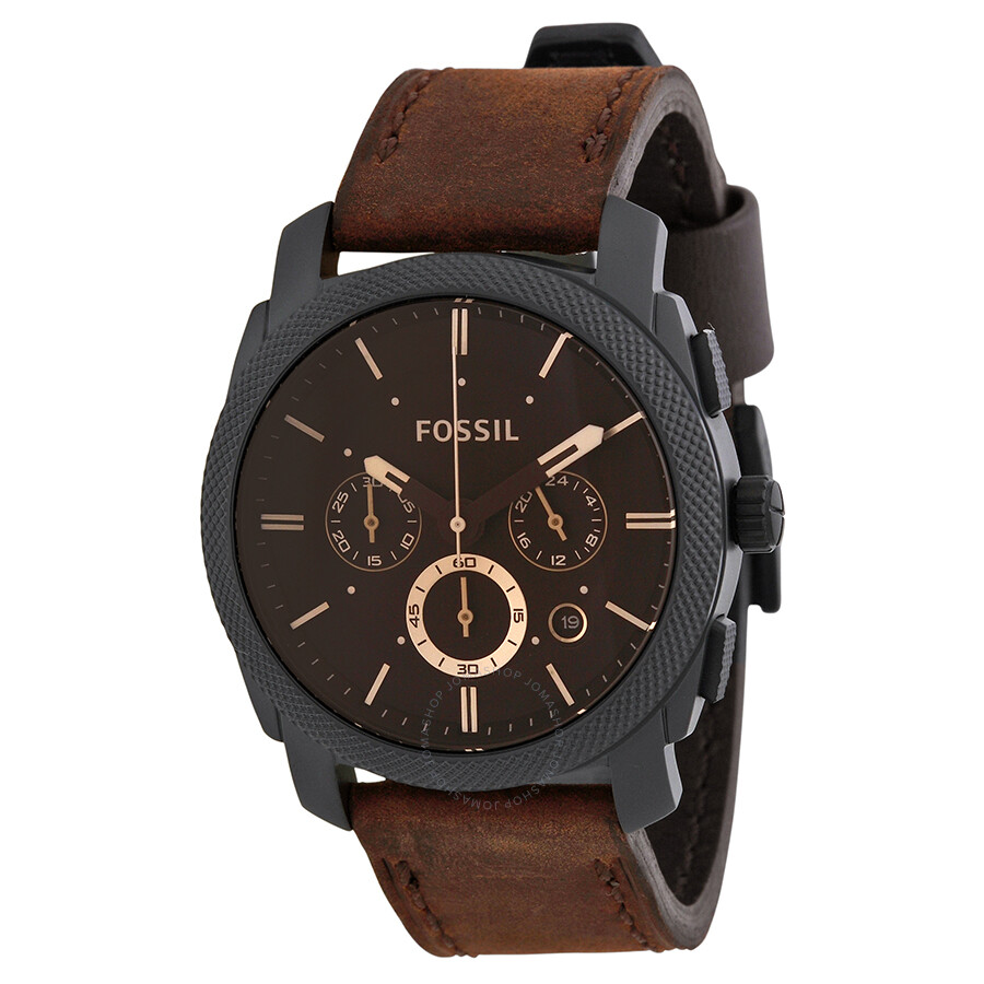 Fossil Machine Flight Chronograph Brown Dial Men S Watch
