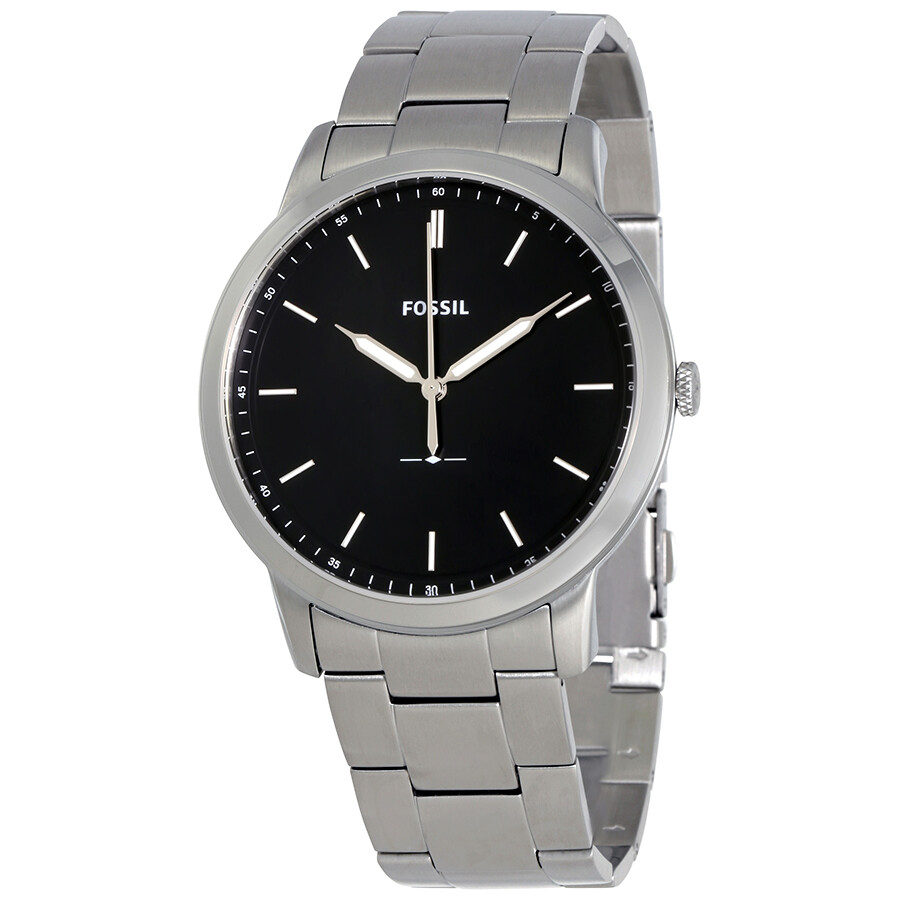 b1d3af036a1a3 Fossil Minimalist Black Dial Men s Watch FS5307 - Fossil - Watches ...