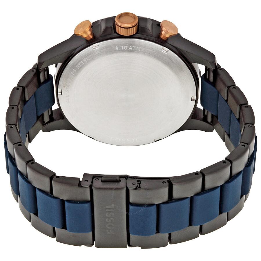 234737354af Fossil Nate Chronograph Blue Dial Men s Watch JR1494 - Nate - Fossil ...