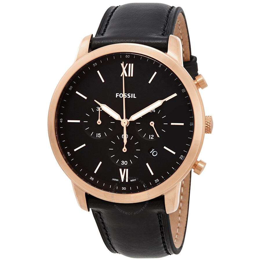 3f08eda91ee9c Fossil Neutra Chronograph Black Dial Men s Watch FS5381 - Fossil ...