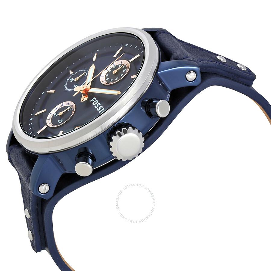 501a6f73c ... Fossil Original Boyfriend Chronograph Blue Dial Ladies Watch ES4113 ...