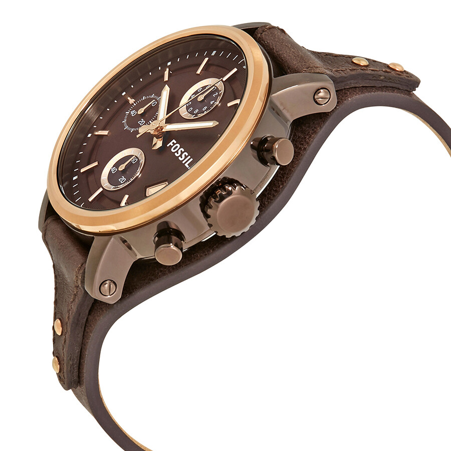 cebf744821f ... Fossil Original Boyfriend Chronograph Brown Dial Ladies Watch ES4286 ...