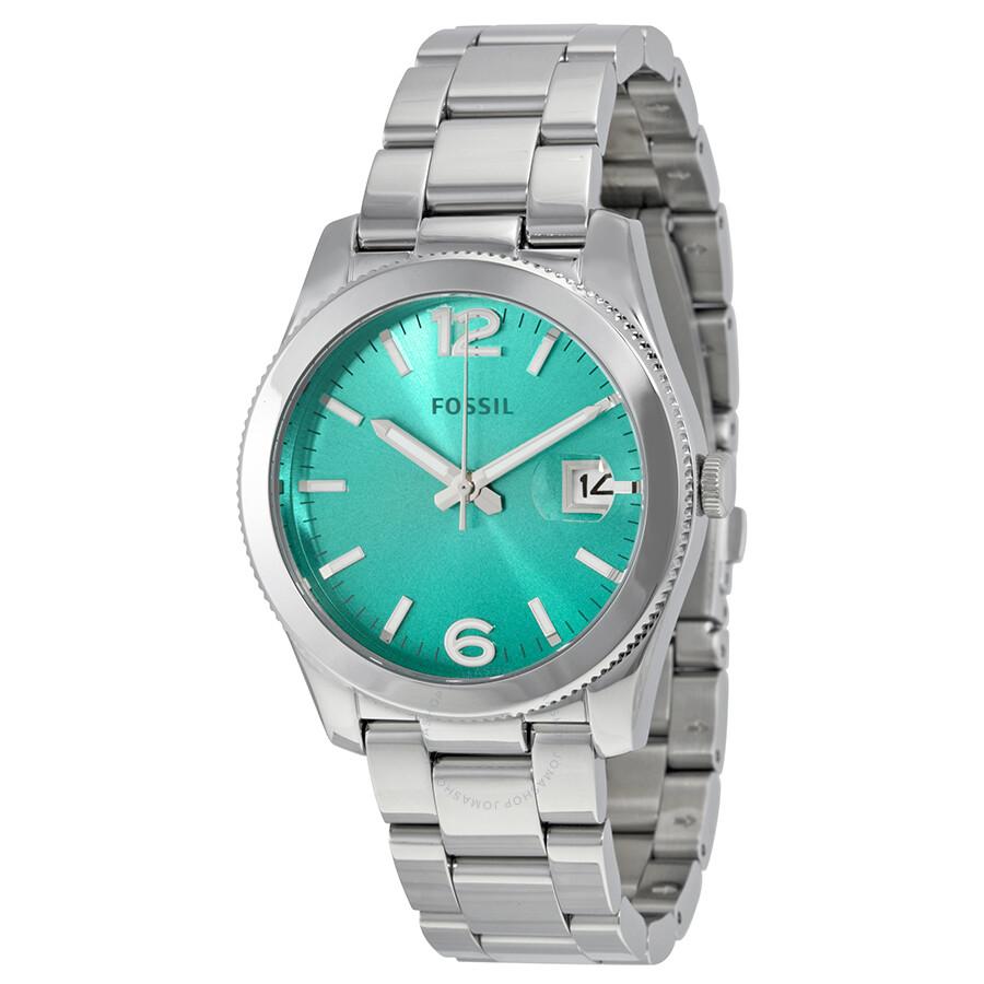 Fossil perfect boyfriend green gradient dial stainless steel ladies watch es3779 boyfriend for Gradient dial watch