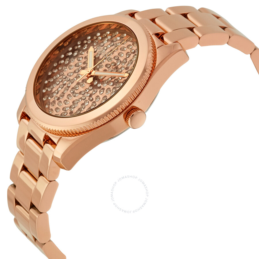 fossil perfect boyfriend rose gold crystal pave dial steel ladies watch es3690 boyfriend. Black Bedroom Furniture Sets. Home Design Ideas