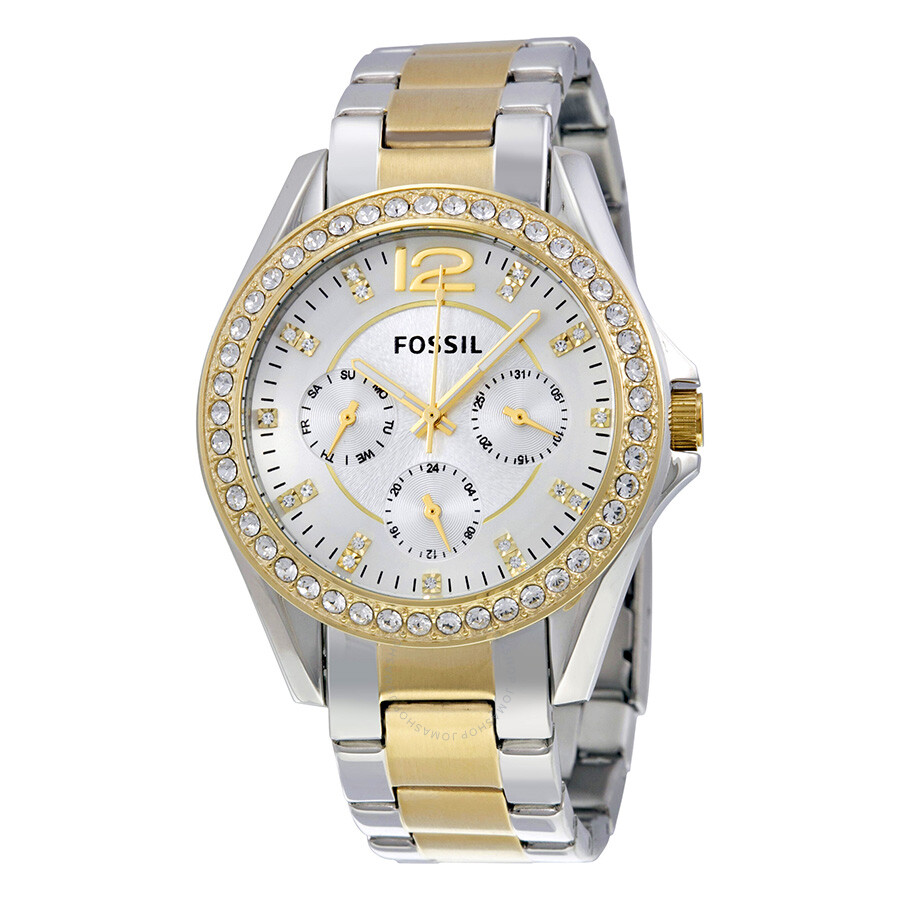 how to change date on fossil watch