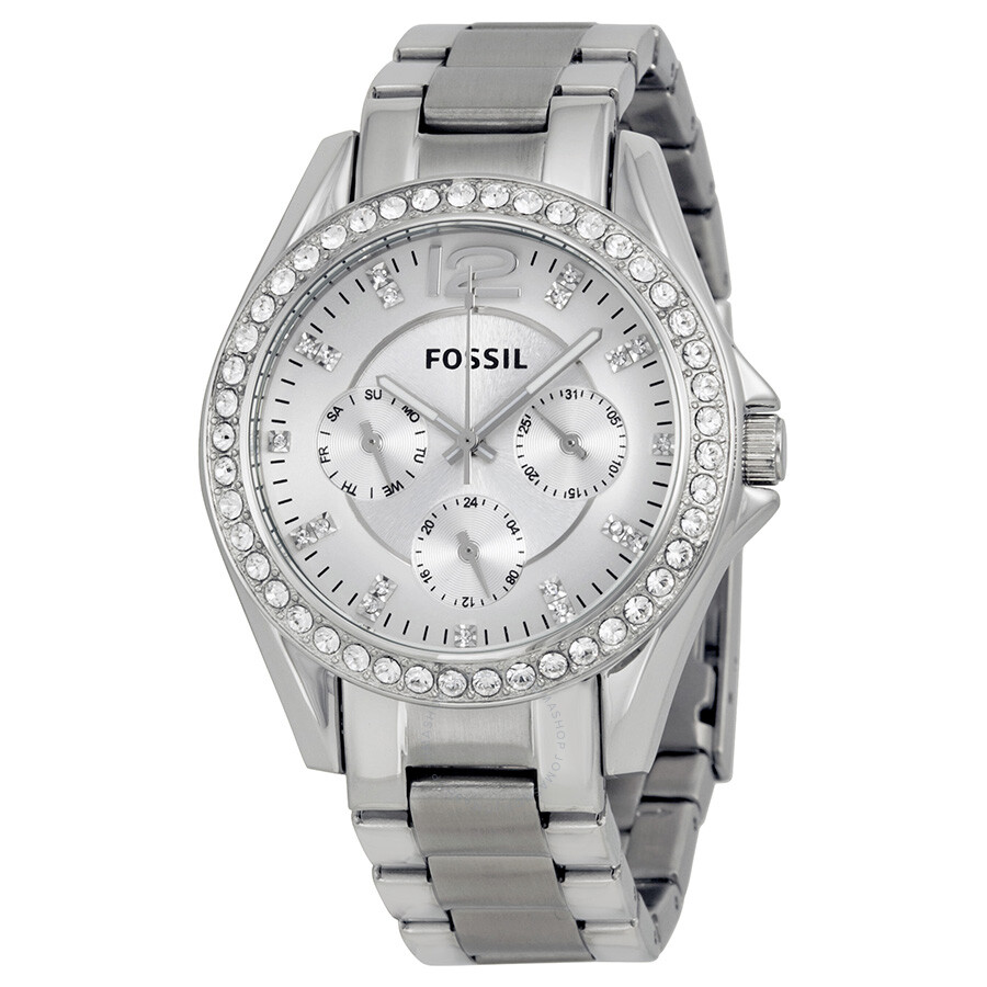 fossil multi function silver