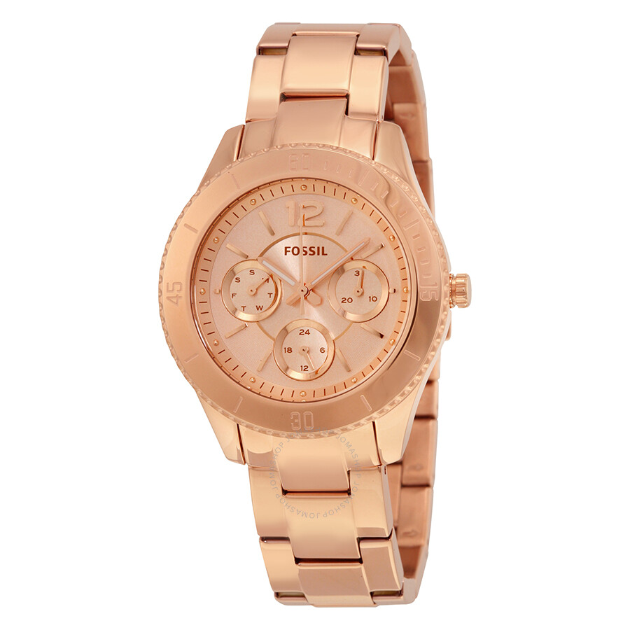 fossil stella rose gold tone dial ladies multifunction watch es3815 stella fossil watches. Black Bedroom Furniture Sets. Home Design Ideas