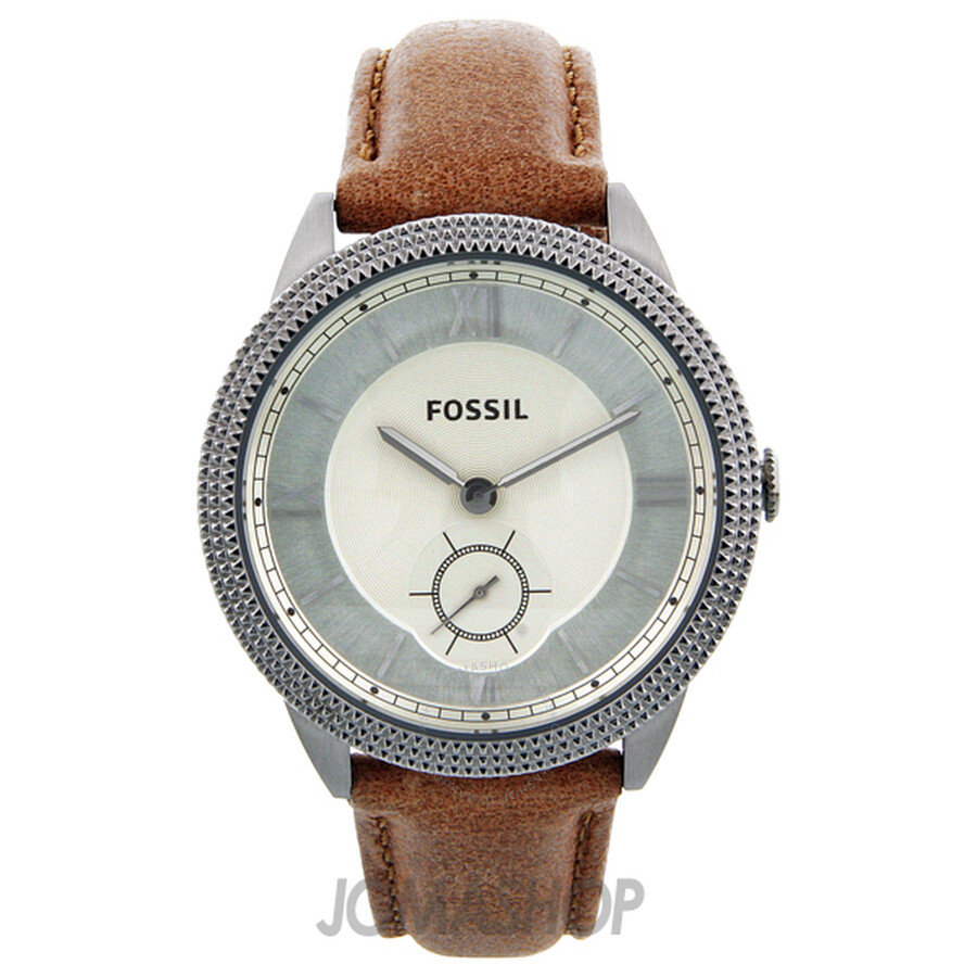 fossil sydney brown leather es3066 fossil
