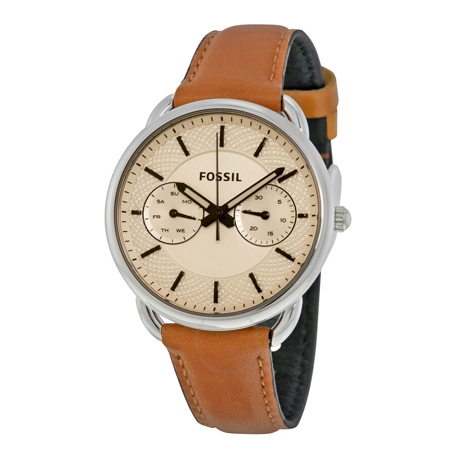 Fossil tailor white dial ladies casual watch es3950 tailor fossil watches jomashop for Casual watches