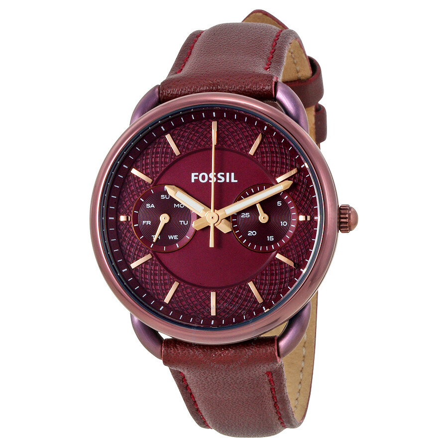 Revendeur Farrow And Ball Bordeaux fossil tailor multifunction bordeaux dial ladies watch es4121